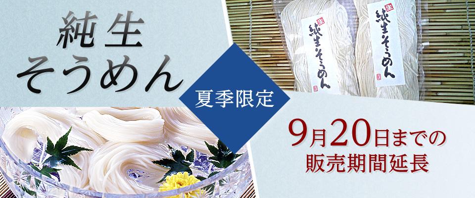 純生そうめん(麺250g入 麺のみ)