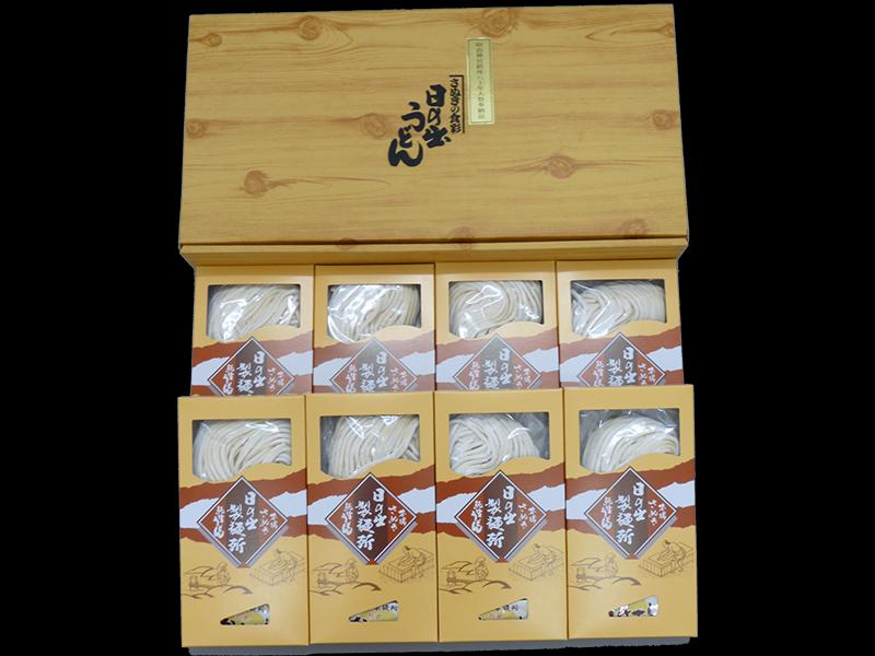 テスト用:純生うどん(だし付) 贈答用化粧箱入り 300g×8
