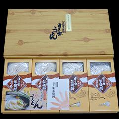 純生うどん(だし付) 贈答用化粧箱入り 300g×4