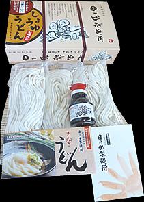 醤油うどん(250g×3 特製いりこだし醤油1個)